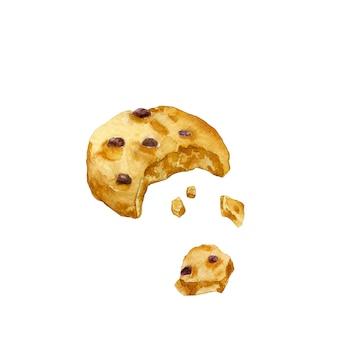 Morsure d'aquarelle dans le cookie