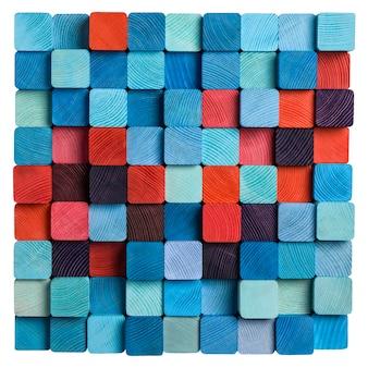 Mosaïque bleue et rouge