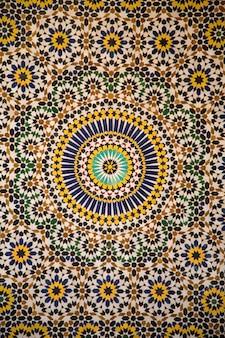 Mosaïque en céramique marocaine