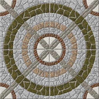Mosaïque en granit naturel. carreaux de pierre décoratifs. , sol et murs. texture de fond de pierre