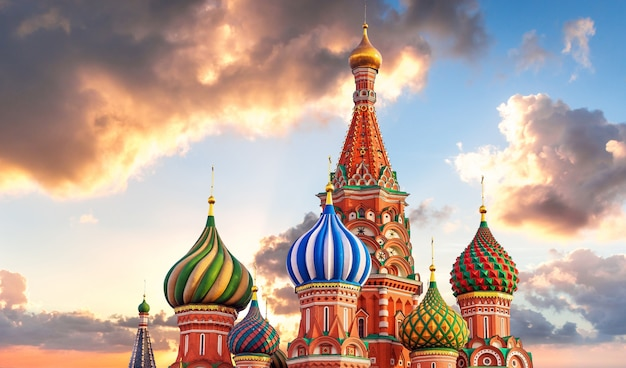 Moscou. cathédrale saint-basile