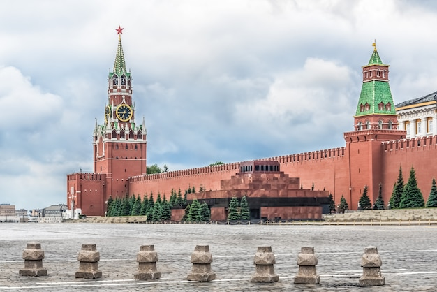 Moscou, russie, place rouge, kremlin