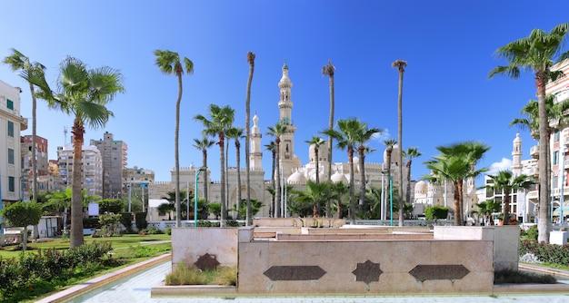 Mosquée d'al-mursi abul abbas, alexandrie. egypte. panorama