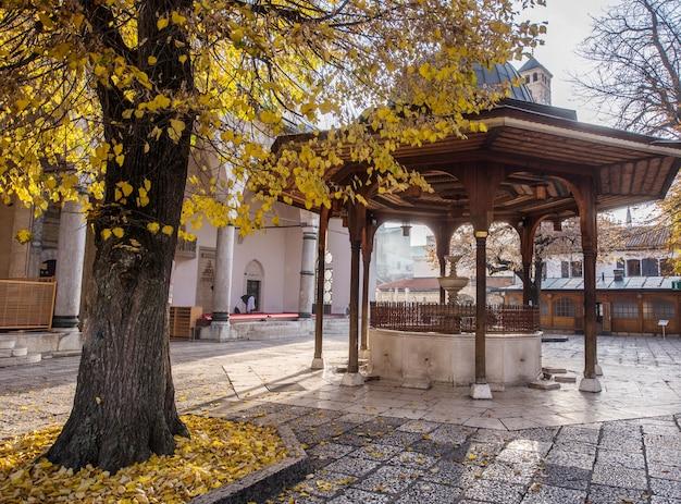 Mosquée avec fontaine en face