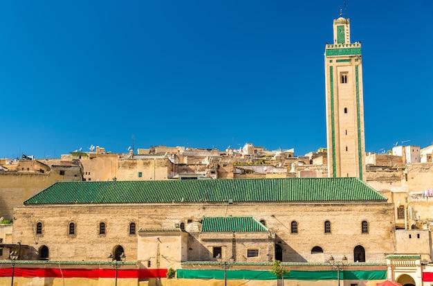 Mosquée rcif dans la médina de fès, maroc