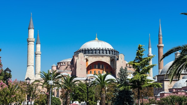 Mosquée sainte-sophie à sultanahmet, istanbul, turquie.