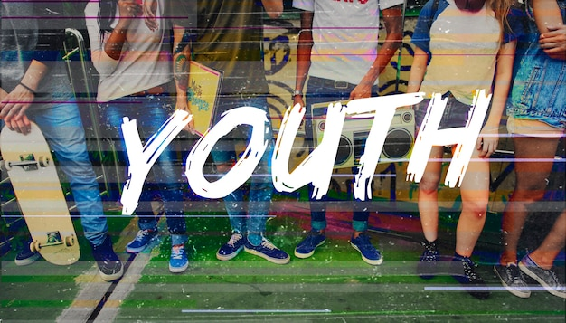 Mot d'adolescent de la jeunesse de la liberté de hipster