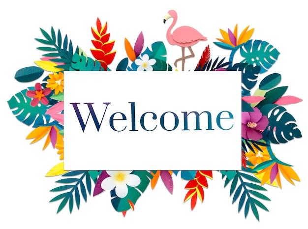 Mot de bienvenue disponible lancement ouvert