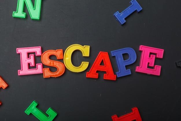 Le mot échapper