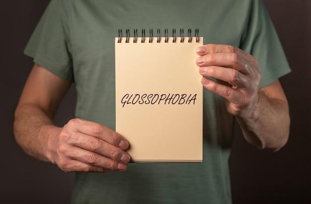 Mot de glossophobie peur et phobie de parler en public