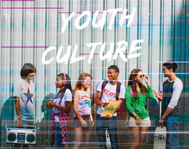 Mot graphique de l'adolescent jeunesse hipster freedom