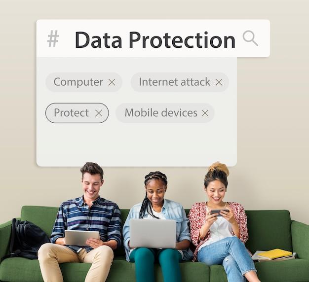 Mot graphique de développement de sécurité de réseau de système de technologie