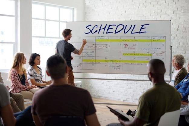 Mot graphique de planification de présentation de réunion