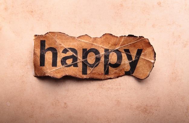 Mot heureux. motivation