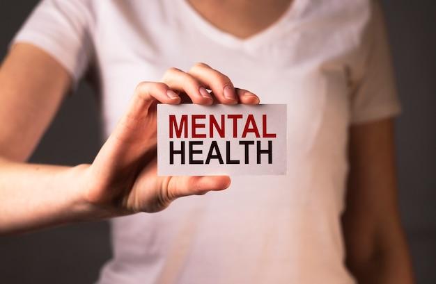 Mot d'inscription sur la santé mentale