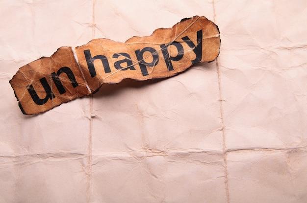 Mot malheureux transformé en heureux. motivation
