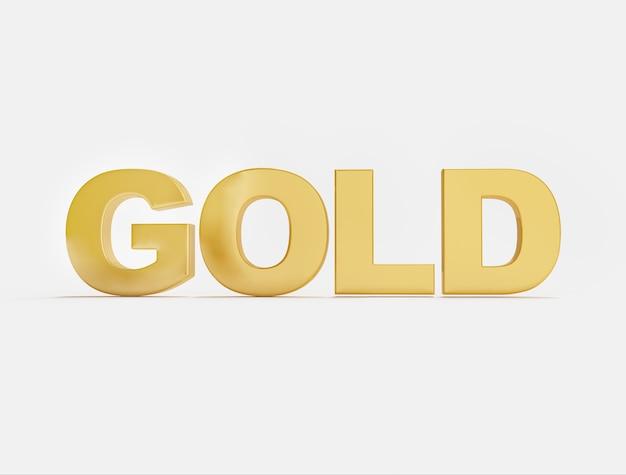 Mot d'or sur une surface blanche