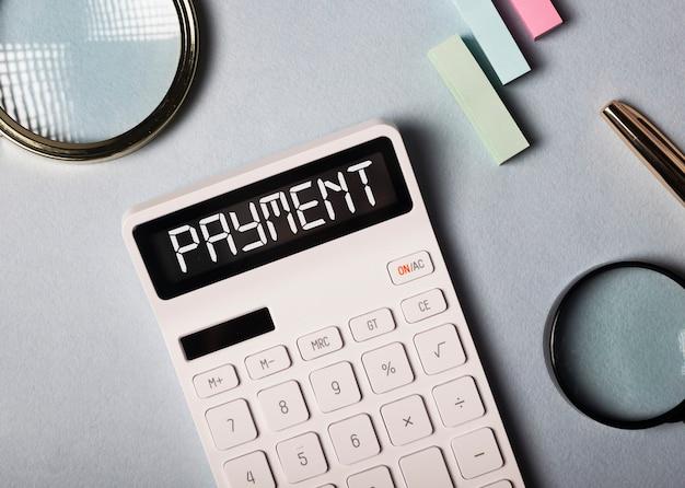 Mot de paiement, inscription. concept financier d'entreprise, rappel