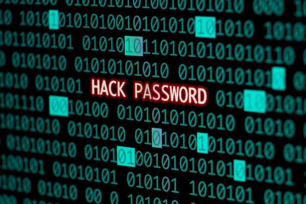 Mot de passe piraté avec code binaire