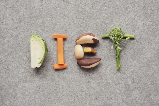 Mot de régime fait à partir d'aliments sains