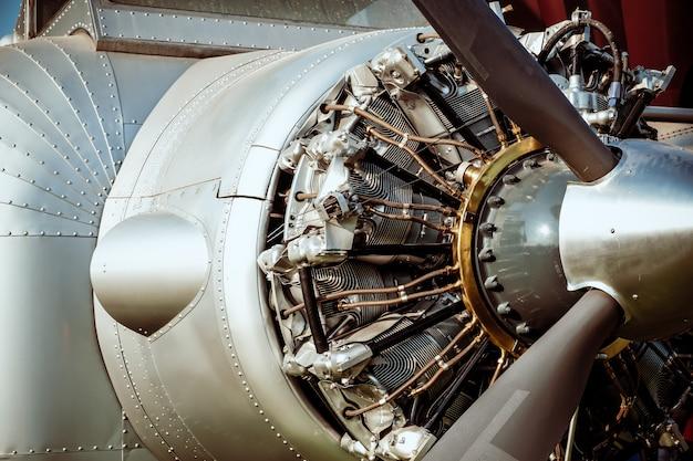 Moteur d'avion vintage