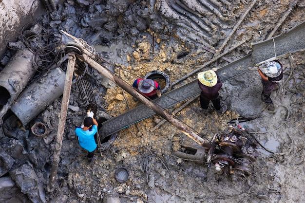 Moteur de forage de pieu de forage statique à partir de la pression atmosphérique pour la résistance des fondations.