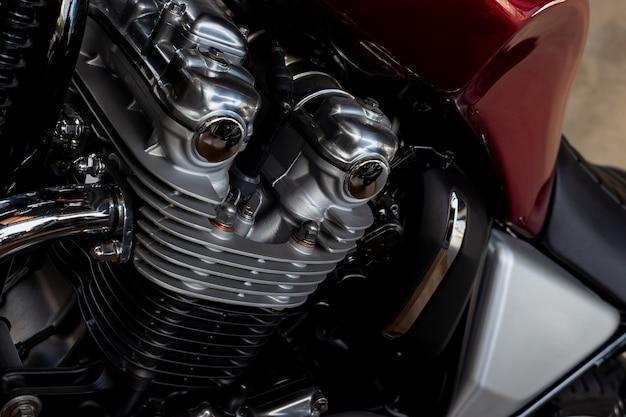 Moteur de moto closeup