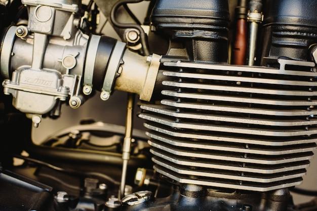 Moteur d'une moto puissante