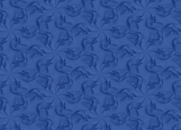 Motif abstrait bleu
