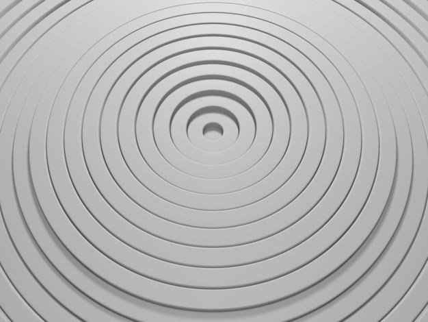 Motif abstrait de cercles avec effet de déplacement fond de bagues blanches propres