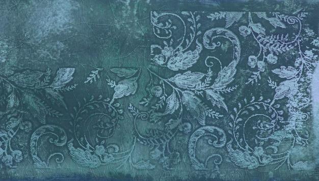 Motif abstrait avec des feuilles ornementales carreaux de céramique décoratifs