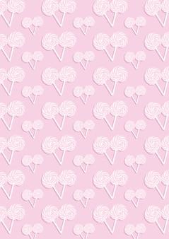 Le motif abstrait rose de nombreux bonbons
