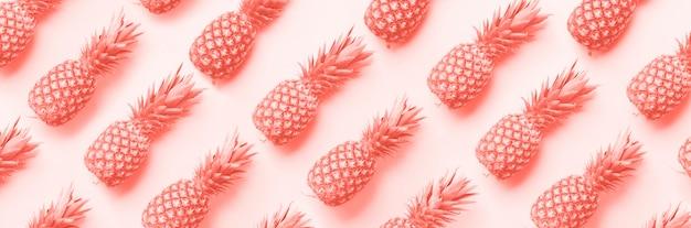 Motif d'ananas frais