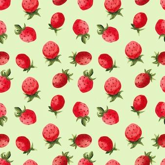 Motif aquarelle fraise