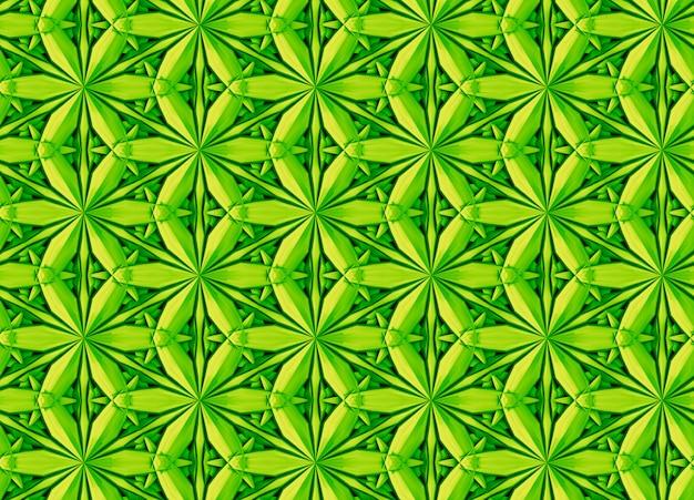 Motif blanc en trois dimensions avec des fleurs à six pointes