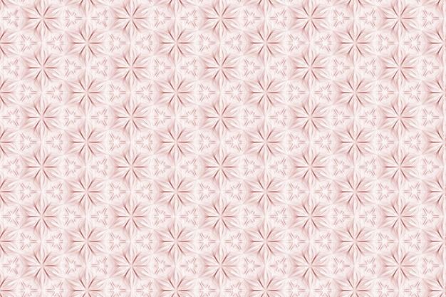 Motif blanc en trois dimensions sans couture avec des couleurs à six pointes