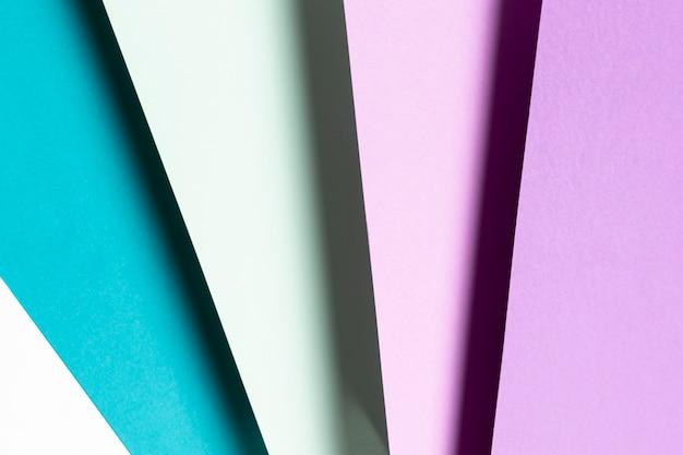 Motif bleu et violet vue de dessus