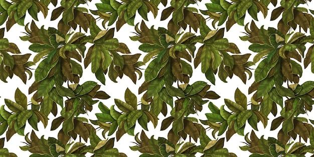 Motif botanique sans couture belles feuilles fond de branches entrelacées