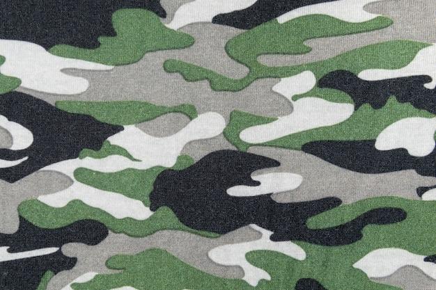 Motif de camouflage sur tissu
