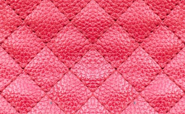 Motif carré de surface en cuir rouge