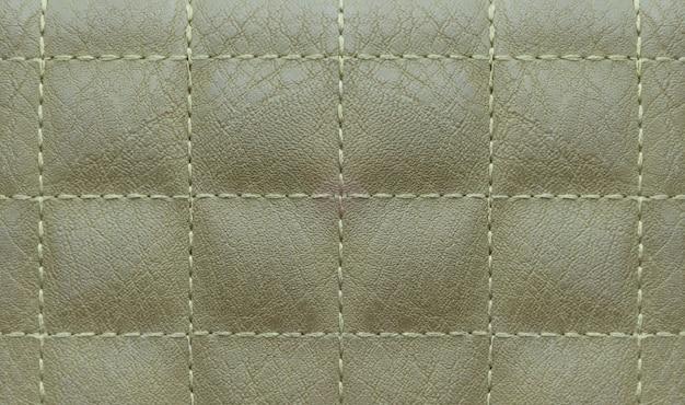 Motif carré de surface en cuir vert