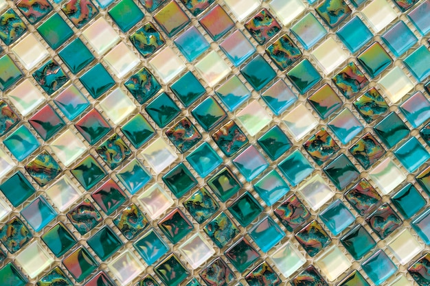 Motif de carreaux de mosaïque colorée géométrique.