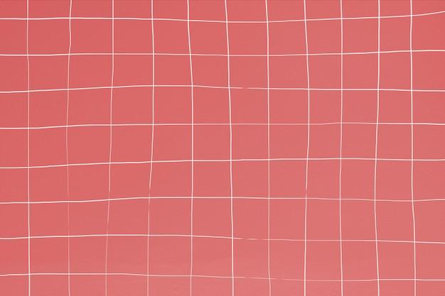 Motif de carreaux de piscine rouge indien déformé