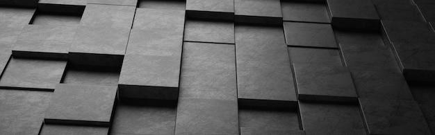 Motif de carrés noirs