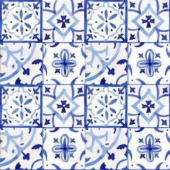 Motif en céramique ornementale de carreaux portugais