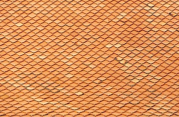 Motif en céramique sur le toit pour le fond