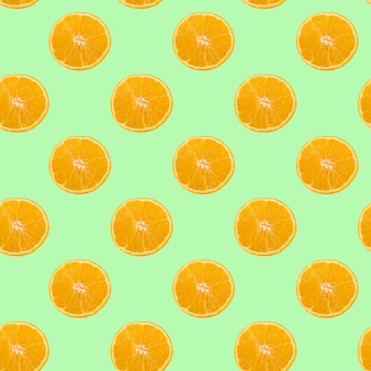 Un motif de cercles orange en tranches
