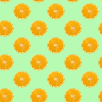 Un motif de cercles orange en tranches