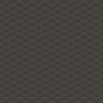 Motif de cercles sans couture noirs asiatiques, ornement japonais - illustration