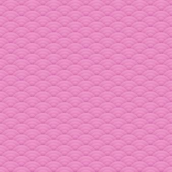 Motif de cercles sans couture rose asiatique